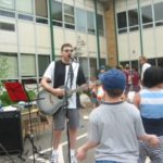 Jason Didner performs an acoustic set at Travell School in Ridgewood, NJ many years before he and Amy start officially making children's music.