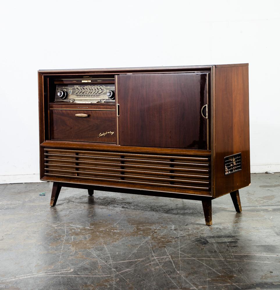 Mid century modern stereo consoles radios