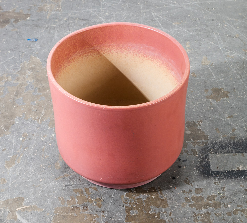 Mid Century Modern Planter Pot Pink Red Gainey Large