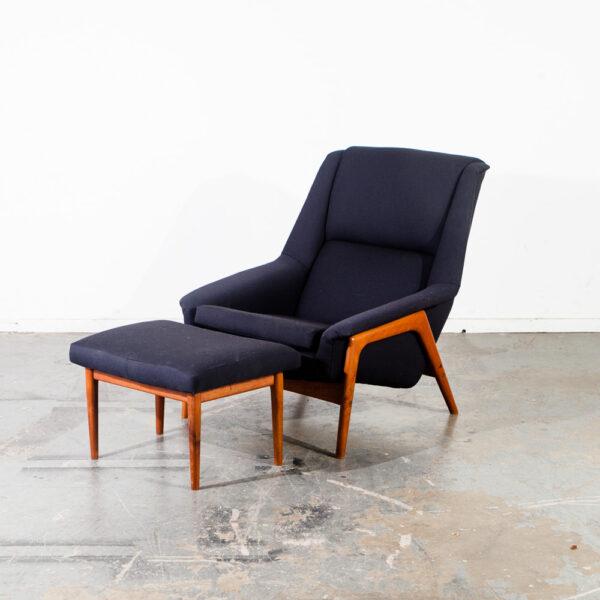Marvelous Mid Century Danish Modern Lounge Chair Teak Dux Fohlke Pabps2019 Chair Design Images Pabps2019Com