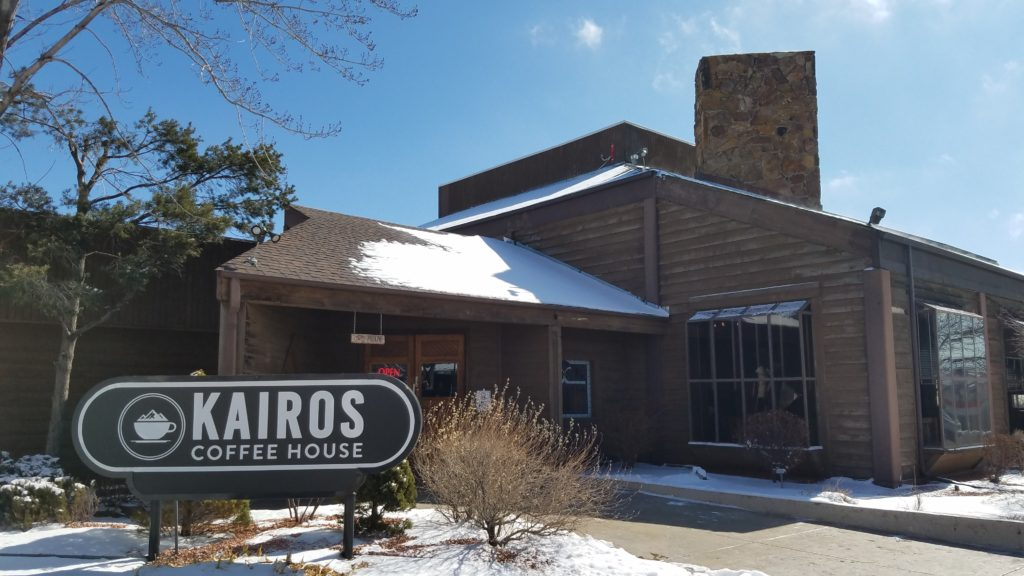 Kairos Coffee House near Popes Bluff and Ute Valley Park in Colorado Springs