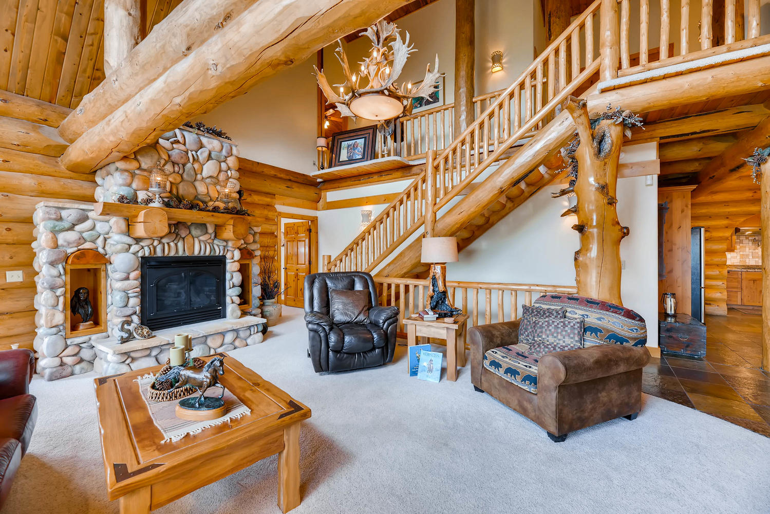 Cozy up next to the gas fireplace.