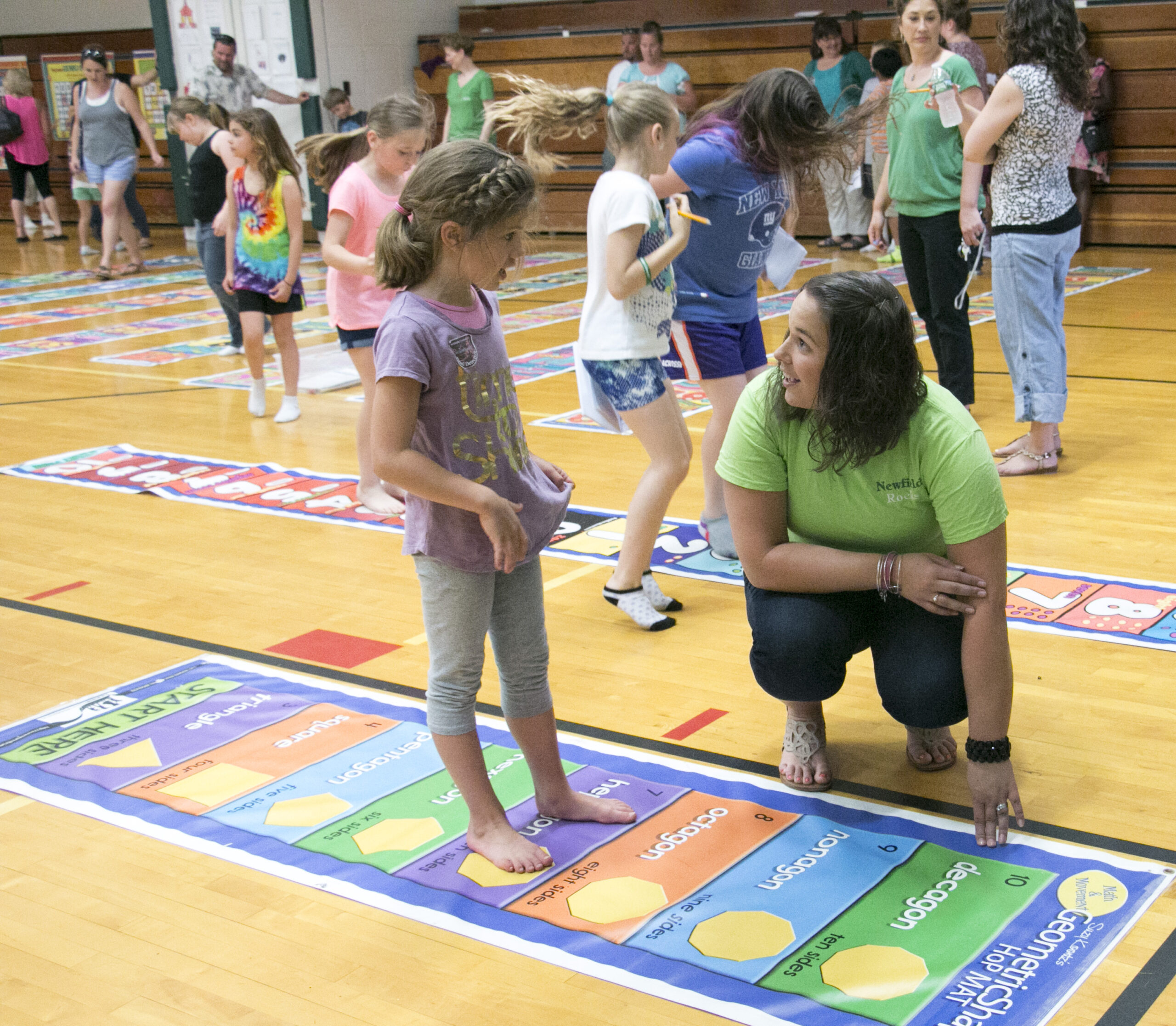 Second Grade Math Floor Mats