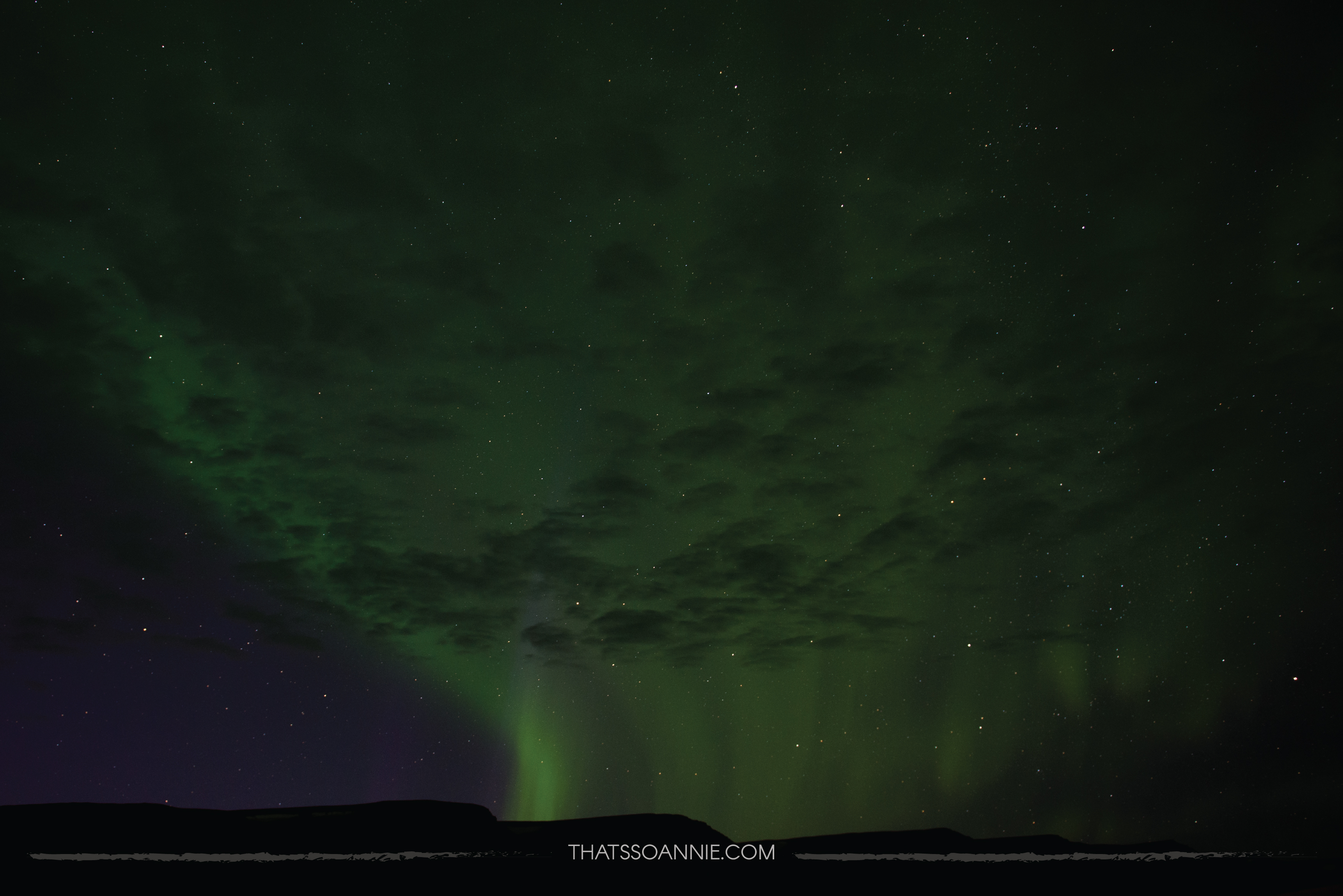 Aurora Borealis, the Northern Lights, at Hofsós