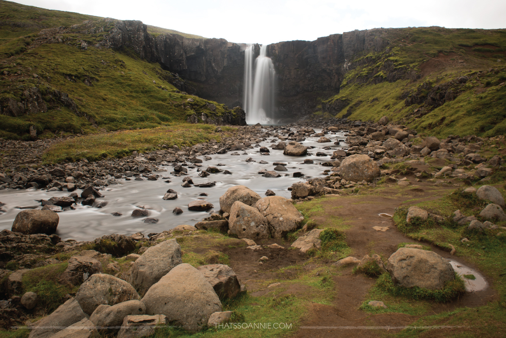 Gufufoss is a gorgeous, secluded and tourist-free hidden gem, just by the side of the road that takes you to Seyðisfjörður, Iceland.