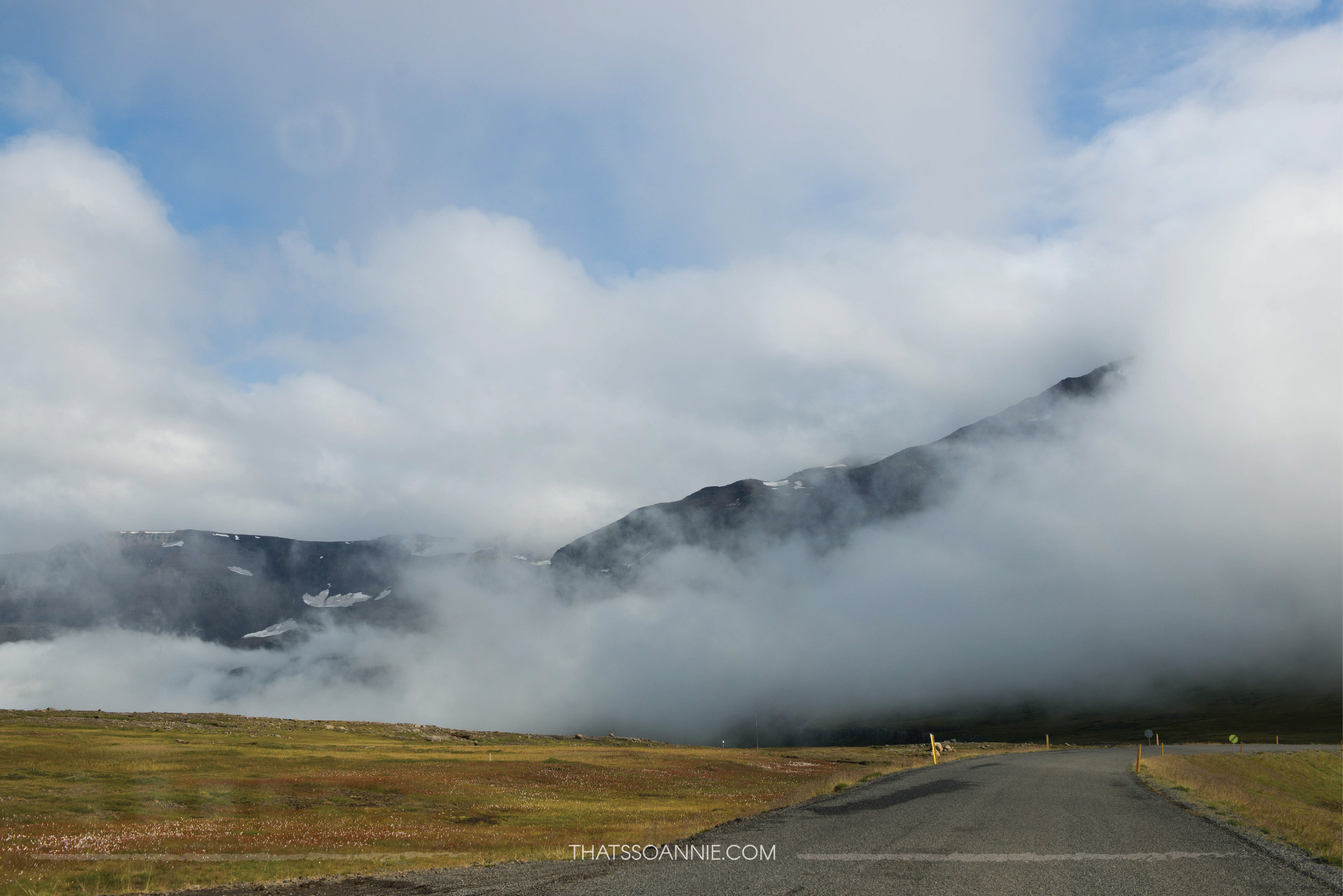 Driving through clouds!