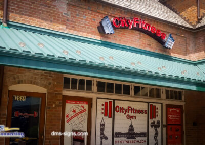City Fitness with Exposed Neon needs neon repair