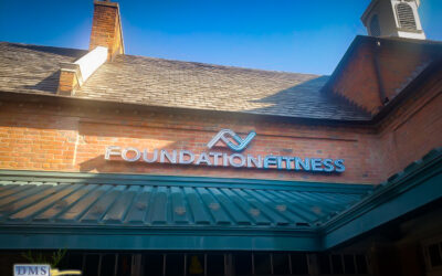 Channel Letter Fitness Sign with Exposed Neon-Alternative installed at Cleveland Park, Washington DC