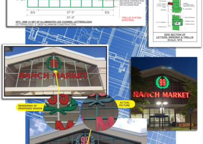 DMS signs design process for 99 Ranch Market