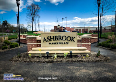 Ashbrook Marketplace Stainless Steel 3D Sign Letters for Monument Sign in Ashburn VA