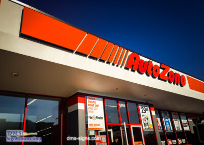 Autozone Illuminated Channel Letters Service Call