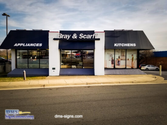 Bray & Scarff New Channel Letters at the Alexandria, VA location