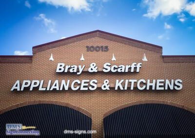 Bray & Scarff Channel Letters on Exterior Building