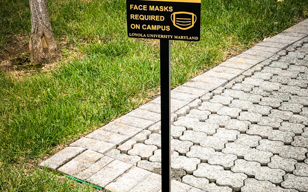 """Face Masks Required"" High-end Architectural Stake Signs. COVID-19 Signs."