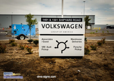 Volkswagen Architectural Monument Sign installed in Sparrows Point MD