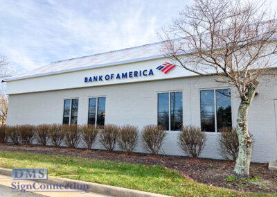 Bank Of America Chantilly VA Rebranding Halo Lit Channel Letters