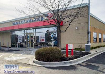 Bank Of America Clarksville ReBranding Channel Letters Shelf Look