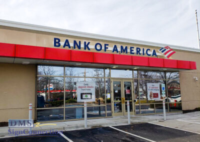 Bank Of America Clarksville ReBranding Channel Letters Shelf Look
