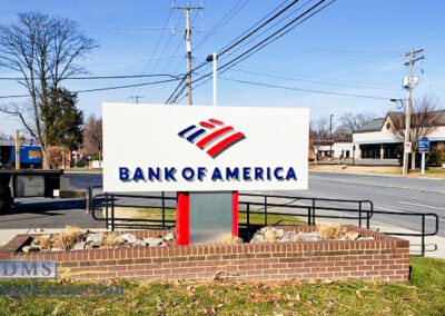 Bank Of America Leesburg East Rebranding Monument Sign