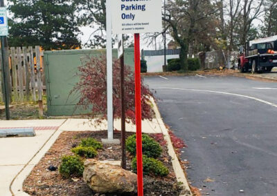 Bank Of America Leesburg East Rebranding Custom Parking Sign
