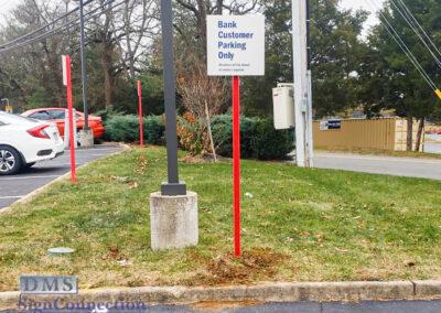 Bank Of America Leesburg East Rebranding Custom Parking Sign