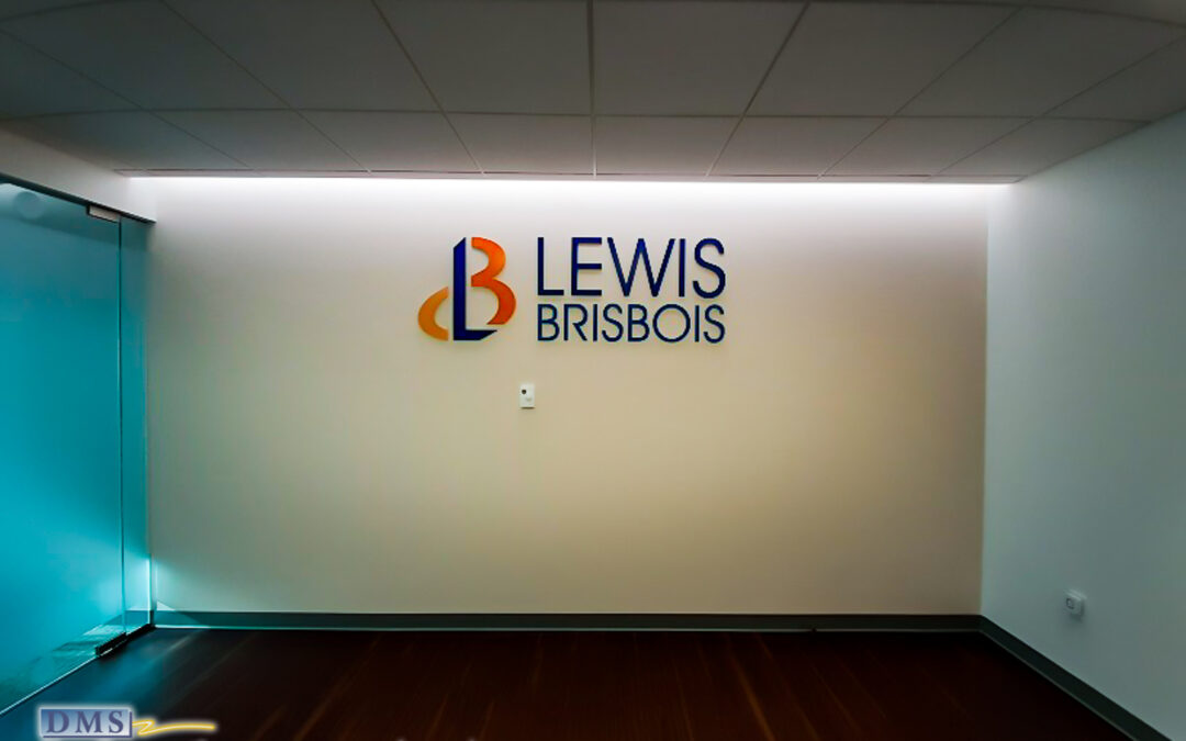 Privacy Etched-Look Film and Metal Dimensional Logo for Law Firm on Penn Ave in Washington DC
