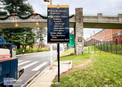Loyola University Baltimore Maryland Wayfinding Sign Resurface Thea Bowman