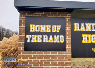 Randallstown HS 4000 Offutt Road School Entrance, Gold and Black, digital prints, retrofit, roof, electrical rewiring