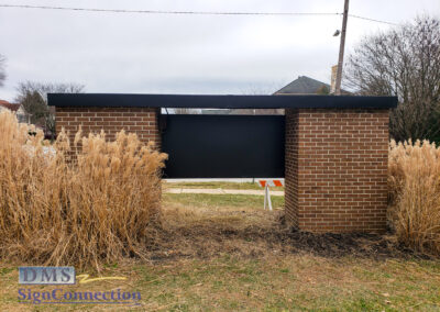 Randallstown HS 4000 Offutt Road School Entrance, Gold and Black, digital prints, retrofit, roof, electrical rewiring