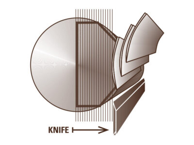 Veneer Cutting Diagram – Plain Sliced