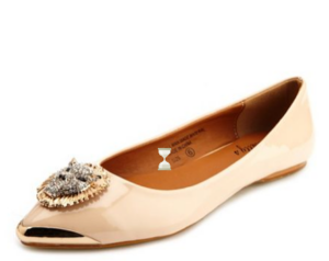 Leon Head Pointy Toe Ballet Flat