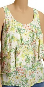 Old Navy Tiered Floral Print Tanks