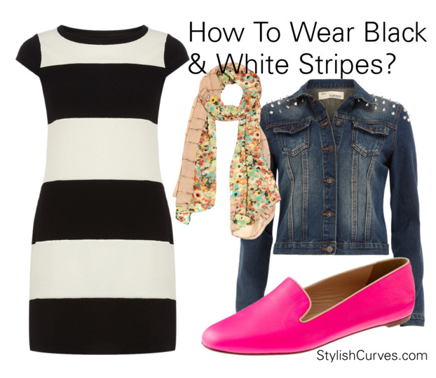black and white striped dress outfit