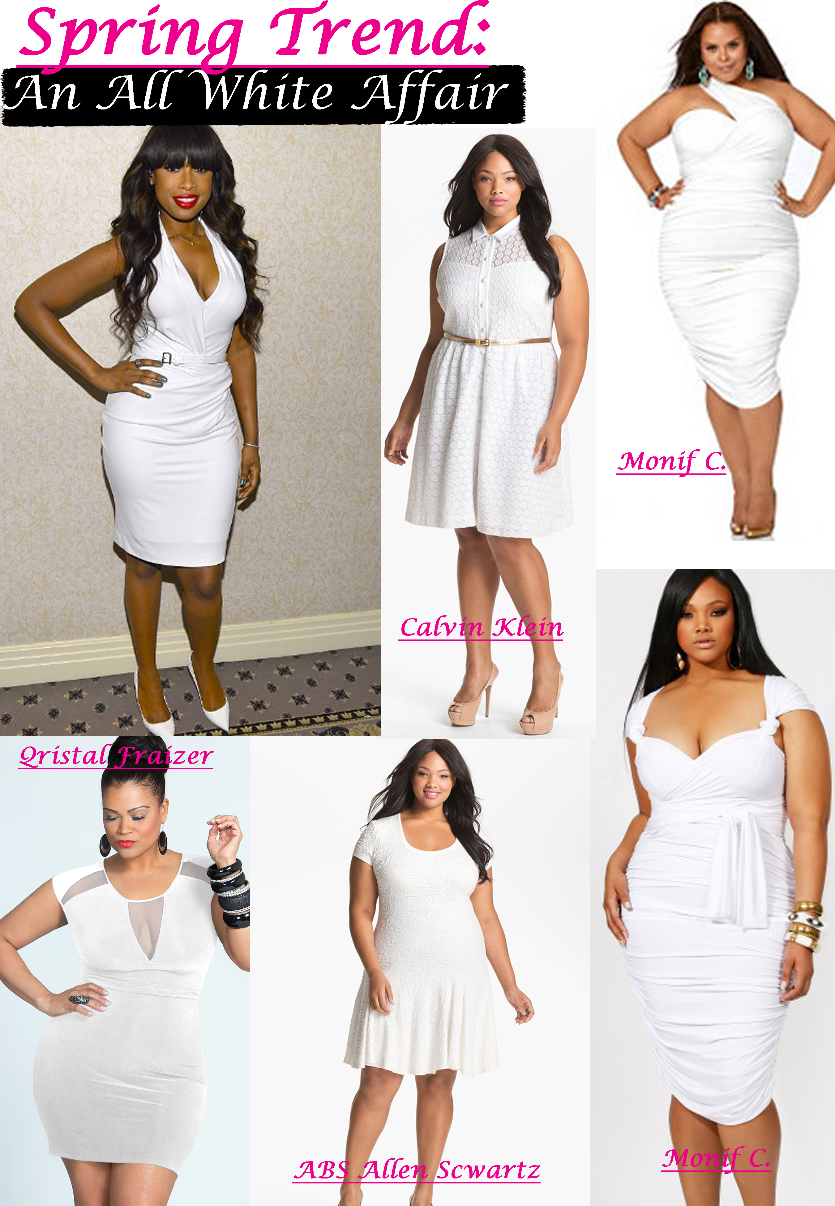 SPRING TRENDS: ALL WHITE PLUS SIZE DRESSES | Stylish Curves