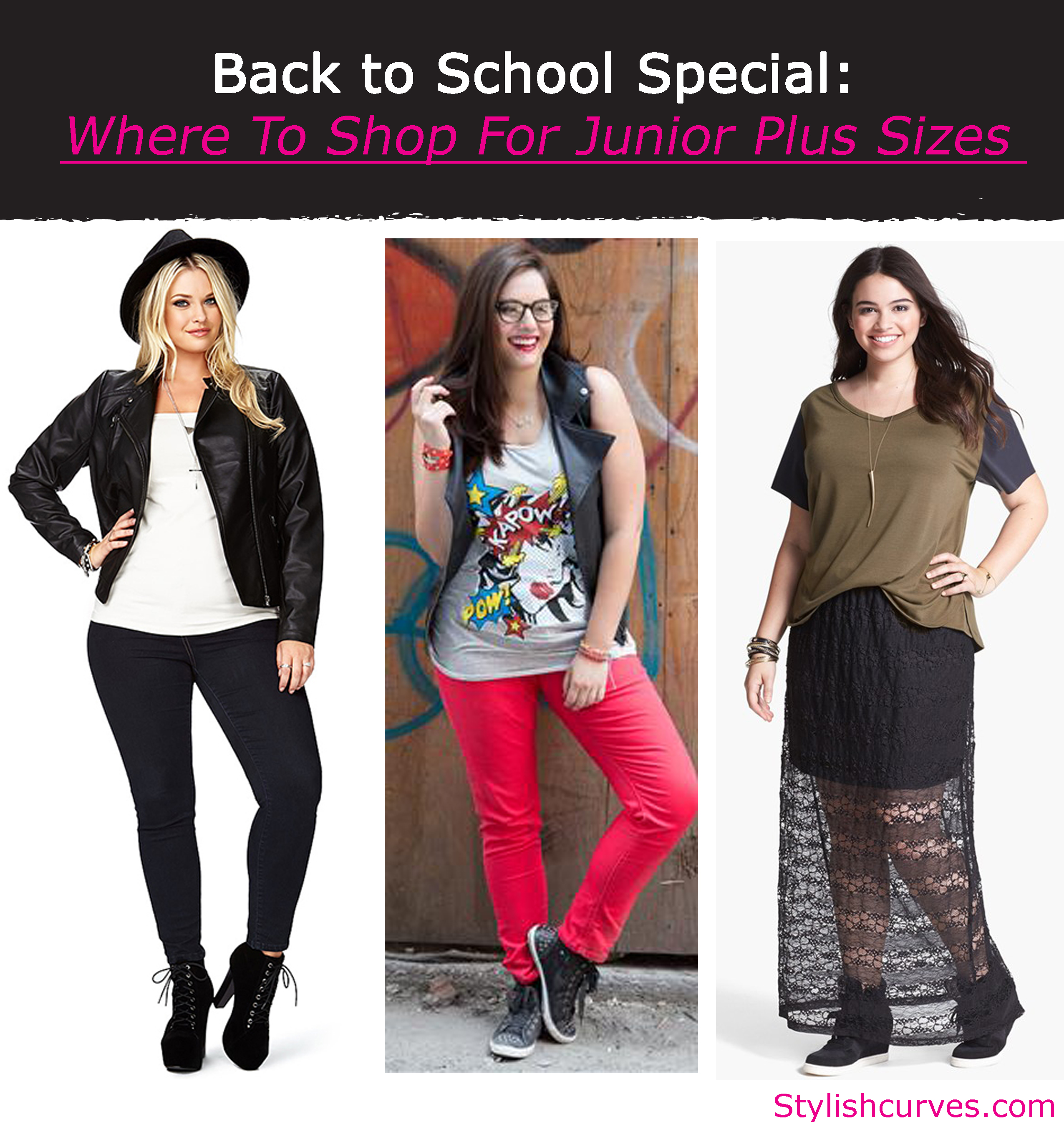 BACK TO SCHOOL SPECIAL: WHERE TO SHOP FOR JUNIOR PLUS SIZE ...