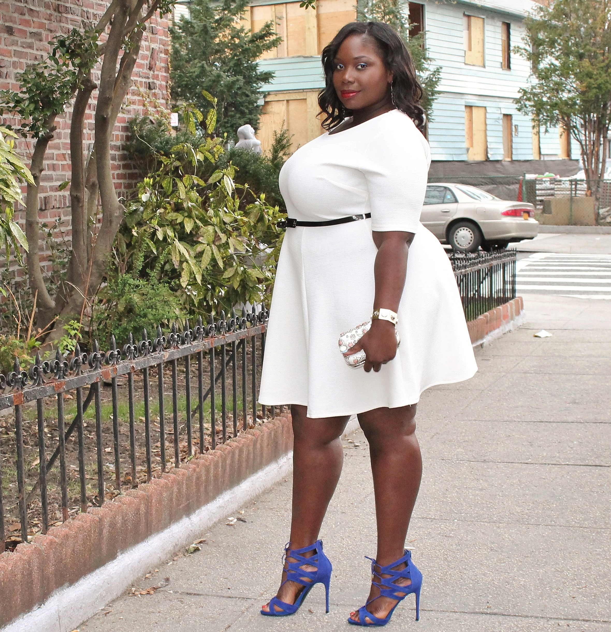 STYLE JOURNEY: MY LITTLE WHITE PLUS SIZE DRESS FROM BOOHOO ...