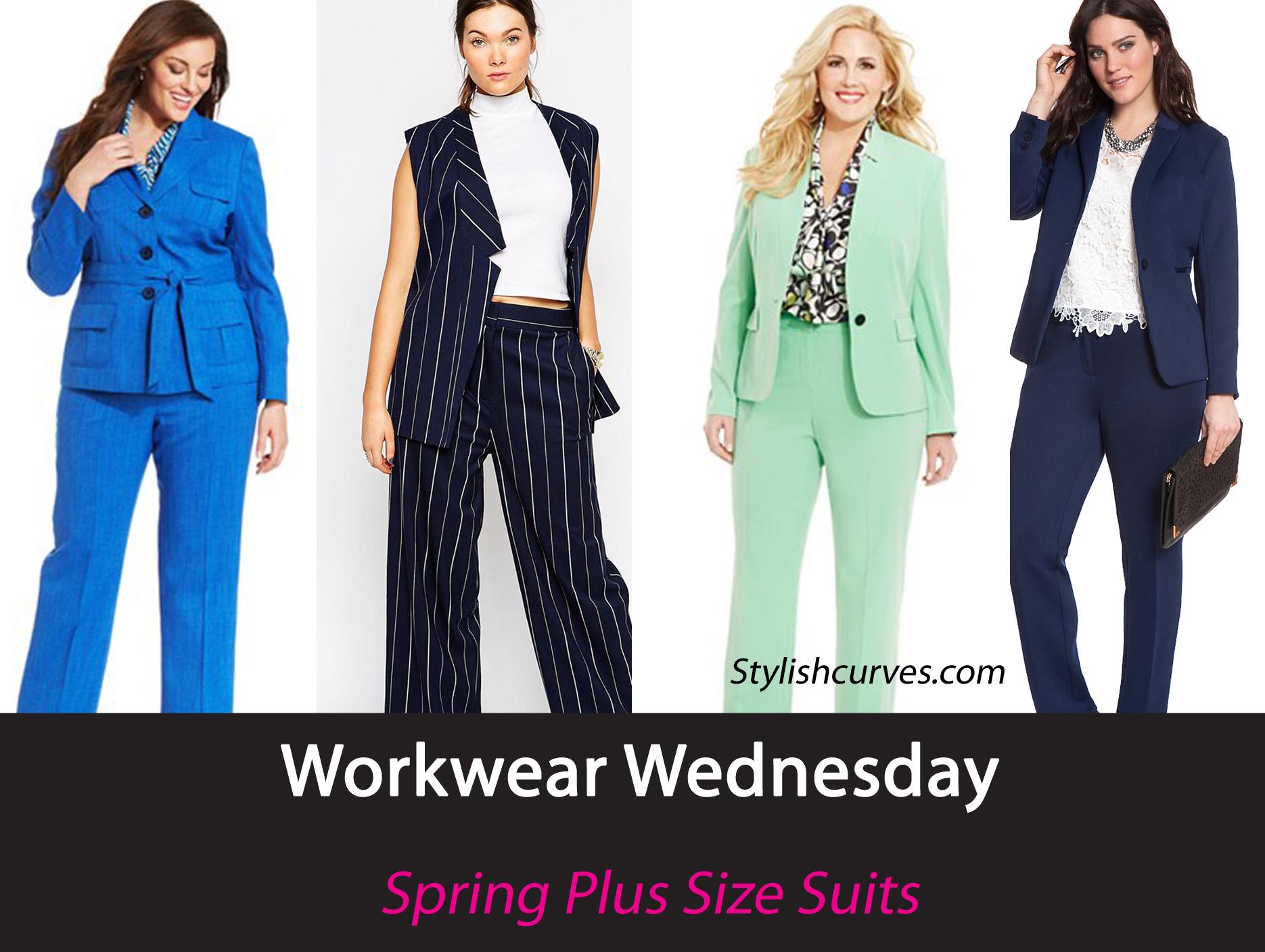 spring plus size suits