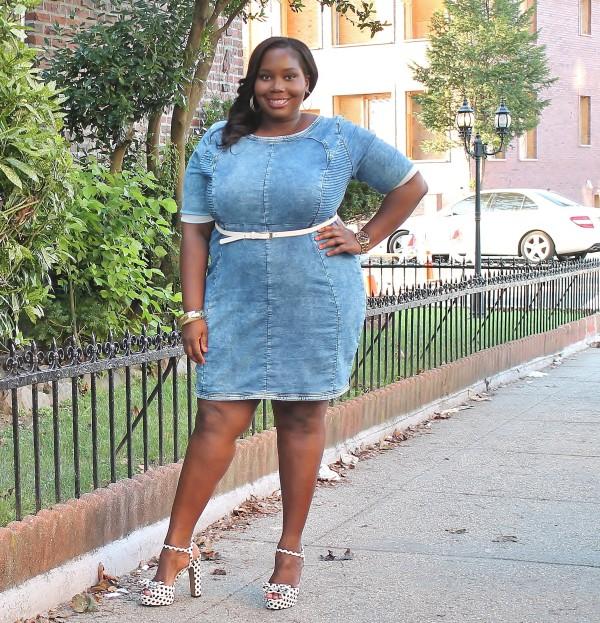 Carmakoma Plus Size Denim Dress2