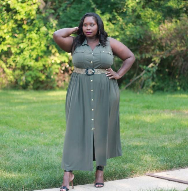 Lane Bryant Plus size maxi dress