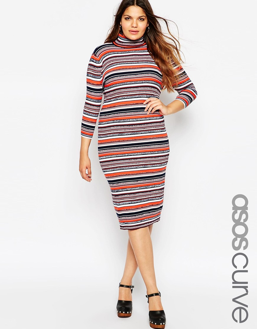 asos curve sweater dress