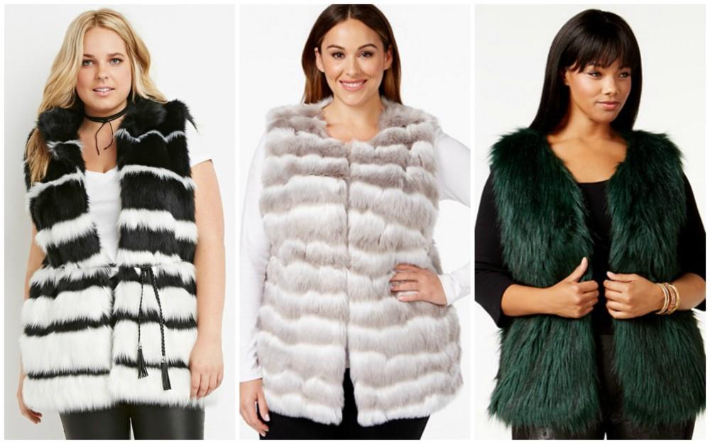 plus size faux fur vest 2