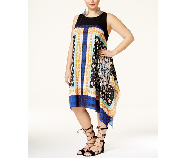 rachel roy plus handkerchief dress