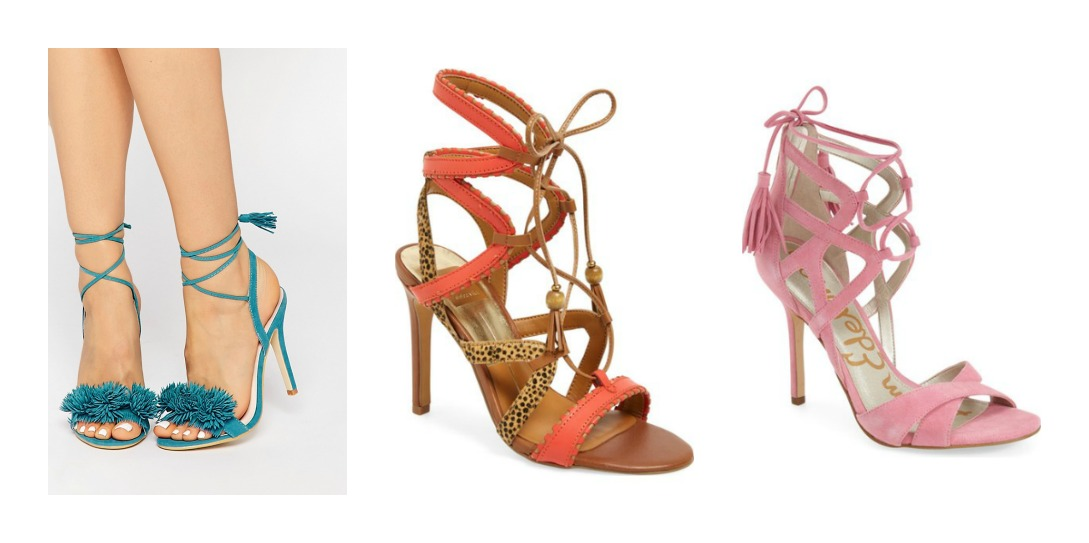 spring 2016 shoe trends lace up sandals
