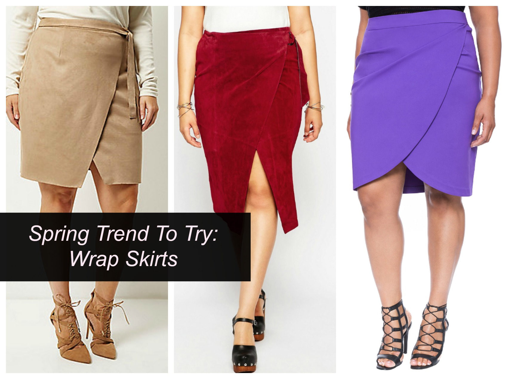 spring trend wrap skirts