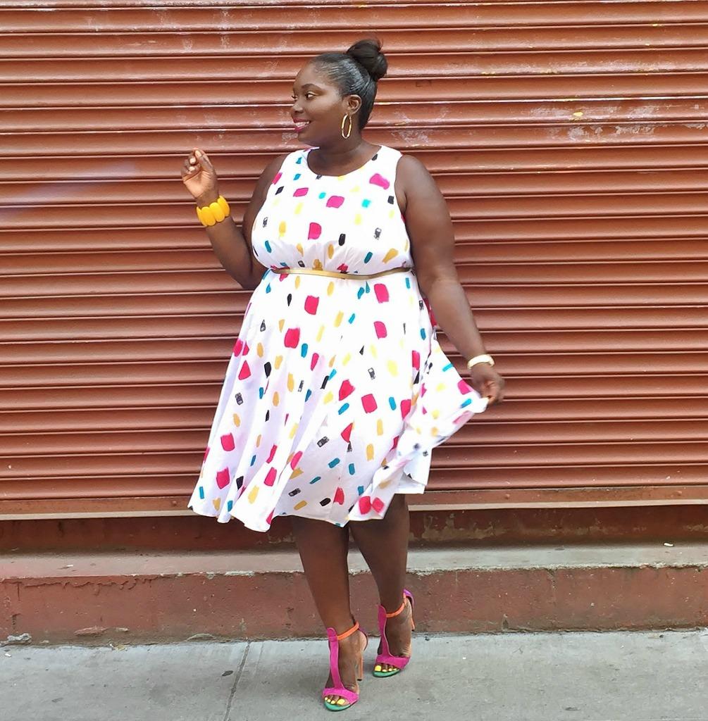 lane Bryant paint splatter dress