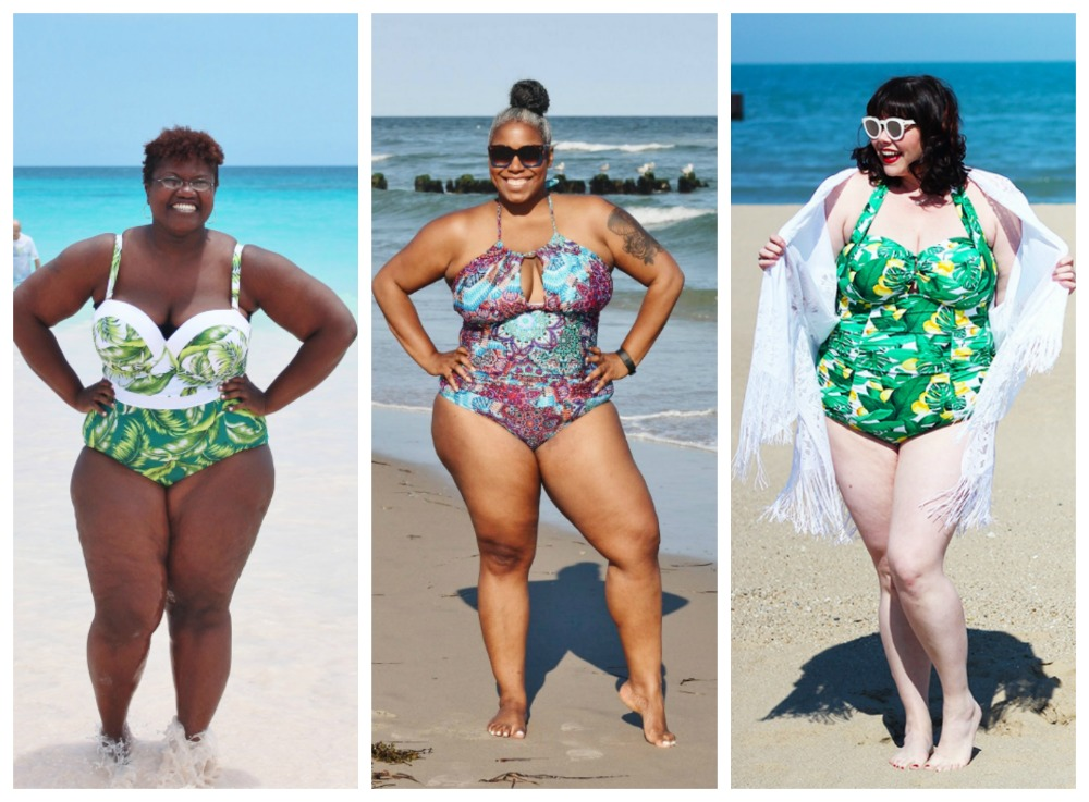 sexy one piece plus size swimsuits
