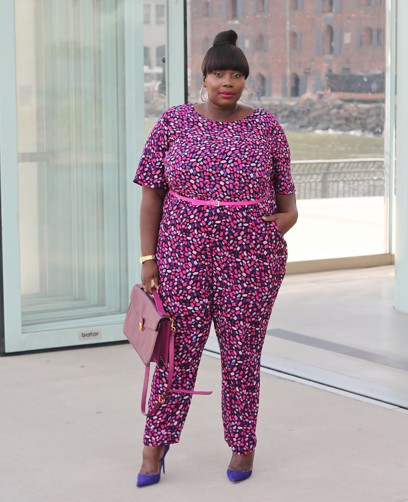 Simply Be printed jumpsuit