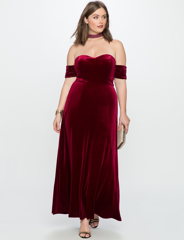Plus Size Velvet Dresses