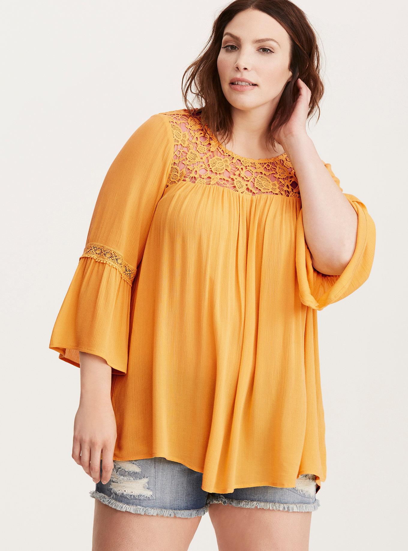 http://www.torrid.com/product/lace-inset-gauze-blouse/10814267.html