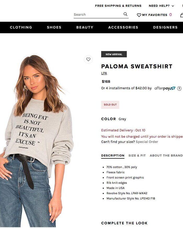 Revolve Fat Shaming Controversy Involves Lena Dunham and Plus Size Model Paloma Elsesser